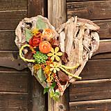 Dekorácie - Drevené spomienkové srdce - 10942958_