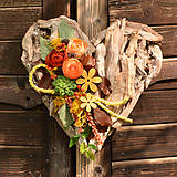 Dekorácie - Drevené spomienkové srdce - 10942959_