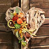 Dekorácie - Drevené spomienkové srdce - 10942960_