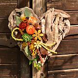 Dekorácie - Drevené spomienkové srdce - 10942961_