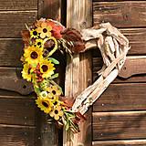 Dekorácie - Drevené spomienkové srdce - 10942975_