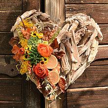 Dekorácie - Drevené spomienkové srdce - 10942757_