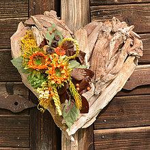 Dekorácie - Drevené spomienkové srdce - 10942985_