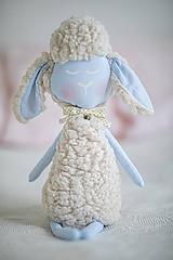 Hračky - Ovka nohatá Baby blue s malým motýlikom a rolničkou - 10941687_