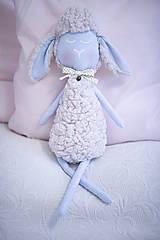 Hračky - Ovka nohatá Baby blue s malým motýlikom a rolničkou - 10941699_