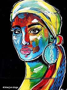 Veľké tašky - africká žena - 10942584_