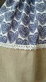 Batohy - Béžový vak- modré srdiečka - 10942072_
