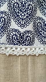 Batohy - Béžový vak- modré srdiečka - 10942073_
