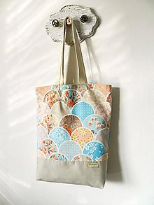 Nákupné tašky - Taška kvietky v oblúkoch - 10941505_