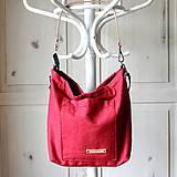 Veľké tašky - Veľká ľanová taška *red* - 10942530_
