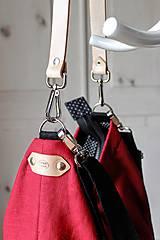 Veľké tašky - Veľká ľanová taška *red* - 10942533_