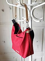 Veľké tašky - Veľká ľanová taška *red* - 10942534_