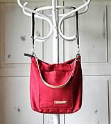 Veľké tašky - Veľká ľanová taška *red* - 10942535_