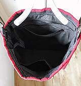 Veľké tašky - Veľká ľanová taška *red* - 10942536_