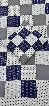 """Úžitkový textil - """"Modrotlač"""" patchworkový prehoz - 10943314_"""