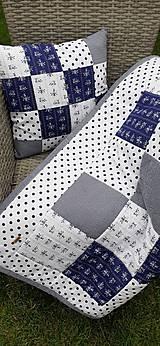 """Úžitkový textil - """"Modrotlač"""" patchworkový prehoz - 10943315_"""
