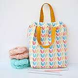 Iné tašky - Taška pastelové tulipány ~ tvoritaška + nákupná - 10943305_