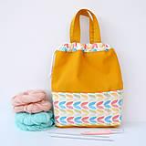 Iné tašky - Taška pastelové tulipány ~ tvoritaška + nákupná - 10943306_
