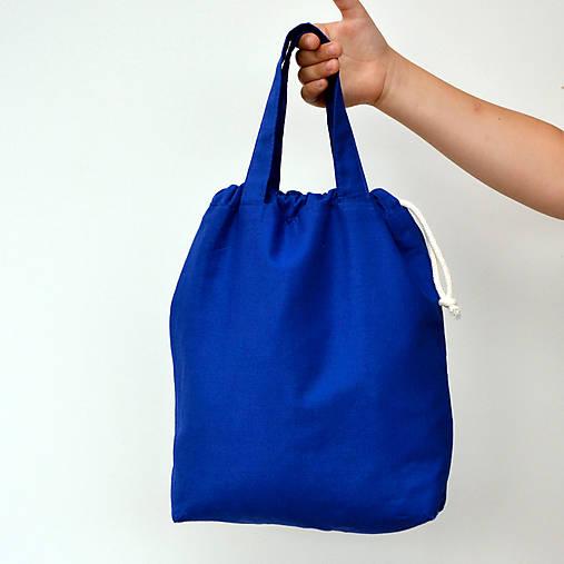 Taška kráľovsky modrá so staroružovou ~ tvoritaška + nákupná