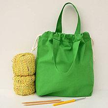 Iné tašky - Taška zelená ~ tvoritaška + nákupná - 10943058_