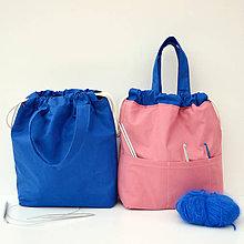 Iné tašky - Taška kráľovsky modrá so staroružovou ~ tvoritaška + nákupná - 10943061_