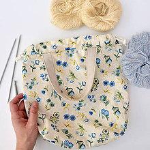 Iné tašky - Taška s kvietkami ~ tvoritaška + nákupná - 10943069_