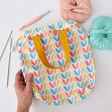 Iné tašky - Taška pastelové tulipány ~ tvoritaška + nákupná - 10943303_