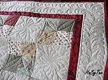 Úžitkový textil - Patchwork prikrývka - 10942750_