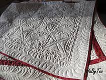 Úžitkový textil - Patchwork prikrývka - 10942751_