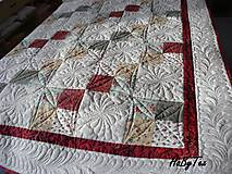 Úžitkový textil - Patchwork prikrývka - 10942752_