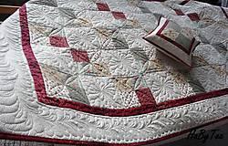 Úžitkový textil - Patchwork prikrývka - 10942755_