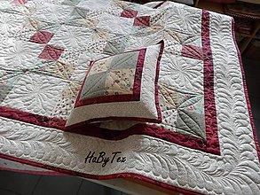 Úžitkový textil - Patchwork prikrývka - 10942754_