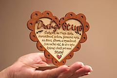 Dekorácie - Poďakovanie rodičom I. (Drahý Ocino) - 10943142_