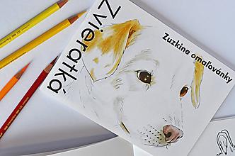 Hračky - Zvieratká - Zuzkine omaľovánky / maľovánky - 10943176_