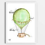 Art Print - zelený balón