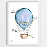 Art Print - modrý balón