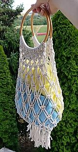 Kabelky - Makramé taška - 10942043_