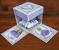 Papiernictvo - Levanduľový exploding box - 10943062_