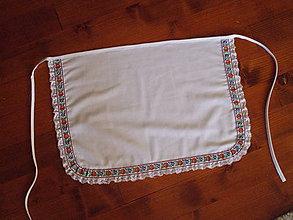 Iné doplnky - Svadobná folklórna zástera biela - viac farieb krojovky - 10941961_