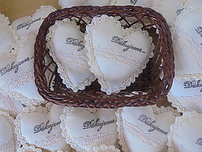 Darčeky pre svadobčanov - Srdiečko do dlane-svadobné (Béžová) - 10942532_