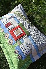 Úžitkový textil - Vankúš s menom a lokomotívou - 10943625_