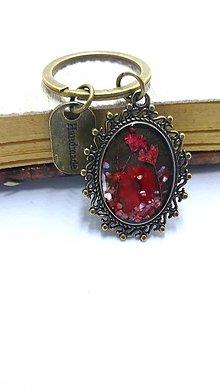 Kľúčenky - Klúčenka Red Flower - 10942470_