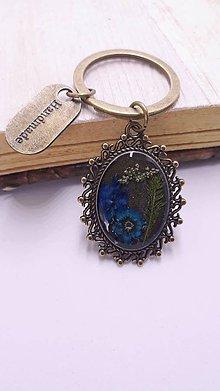 Kľúčenky - Klúčenka Madam Blue - 10942510_