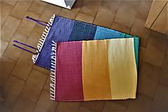 Úžitkový textil - Tkaný koberec - podložka na cvičenie - 10941973_