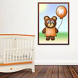 Detské doplnky - Macík a balónik do detskej izby - 10941589_