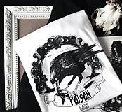 "Tričká - Pánske biele tričko ""Poison"" - 10945556_"