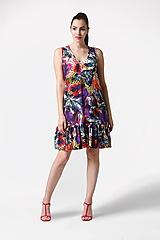 Šaty - Šaty so vzorom a s volánom voľné - 10944112_