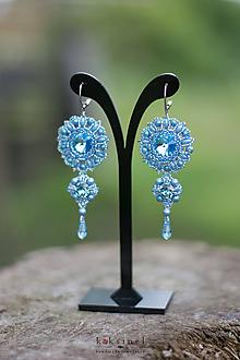 Náušnice - Elegance Blue - 10944650_