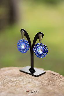 Náušnice - Daisy modré - 10944954_