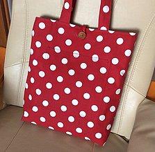 Nákupné tašky - taška bodky - 10944996_